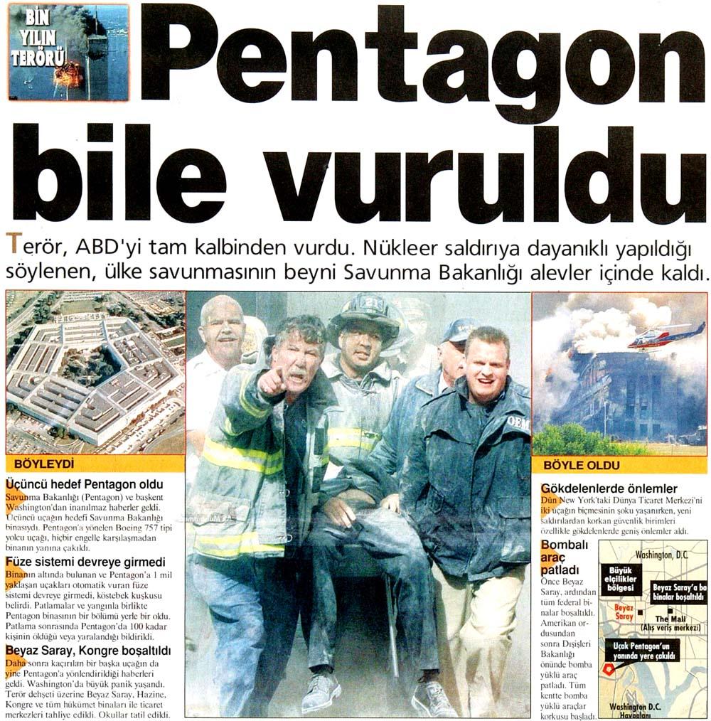 Pentagon bile vuruldu