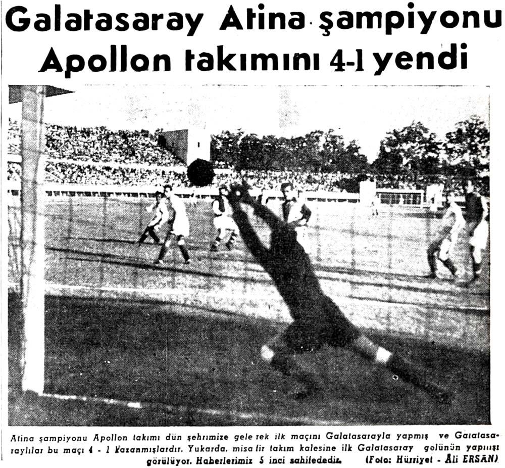 Galatasaray Apollon takımını 4-1 yendi