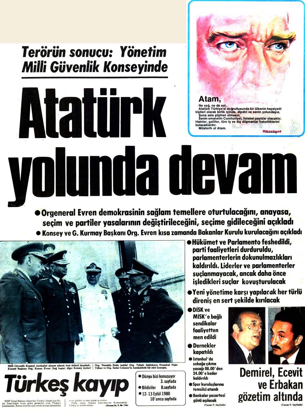 Atatürk yolunda devam