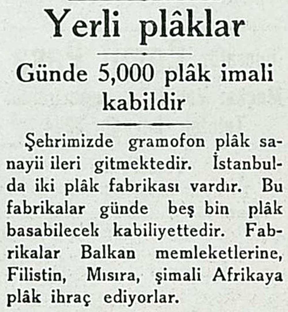 Günde 5,000 plak imali kabildir