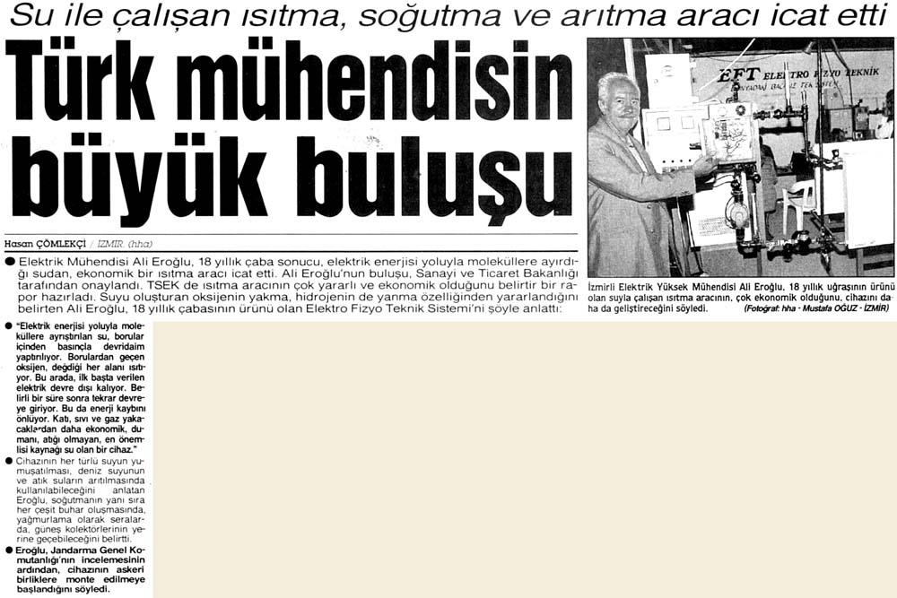 Türk mühendisin büyük buluşu