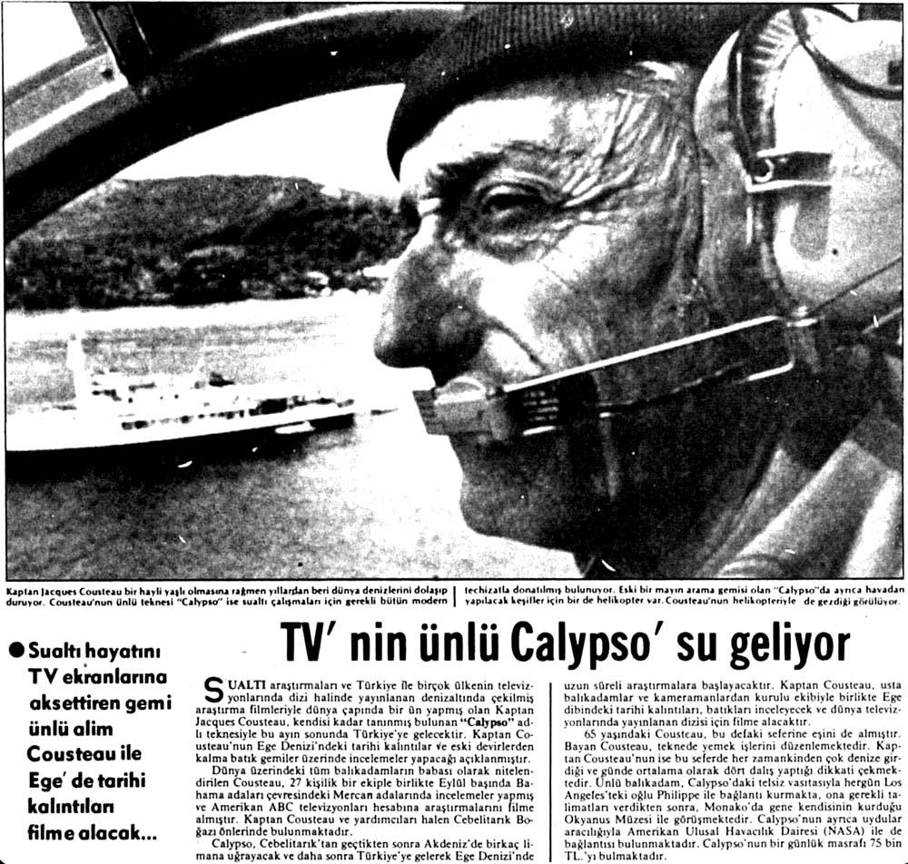 TV'nin ünlü Calypso'su geliyor