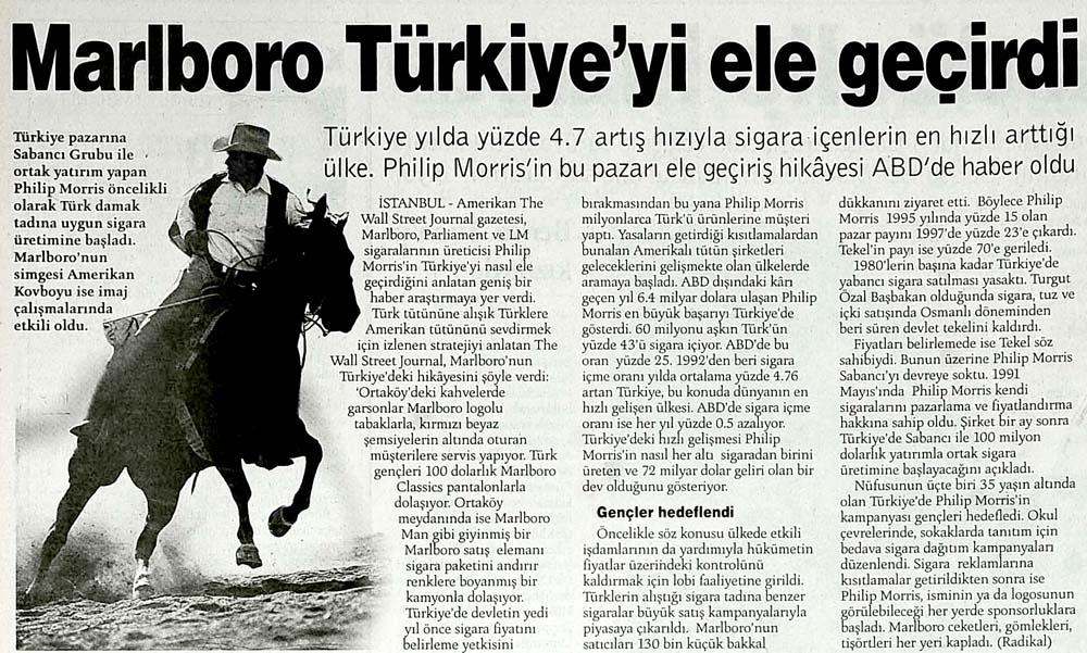 Marlboro Türkiye'yi ele geçirdi
