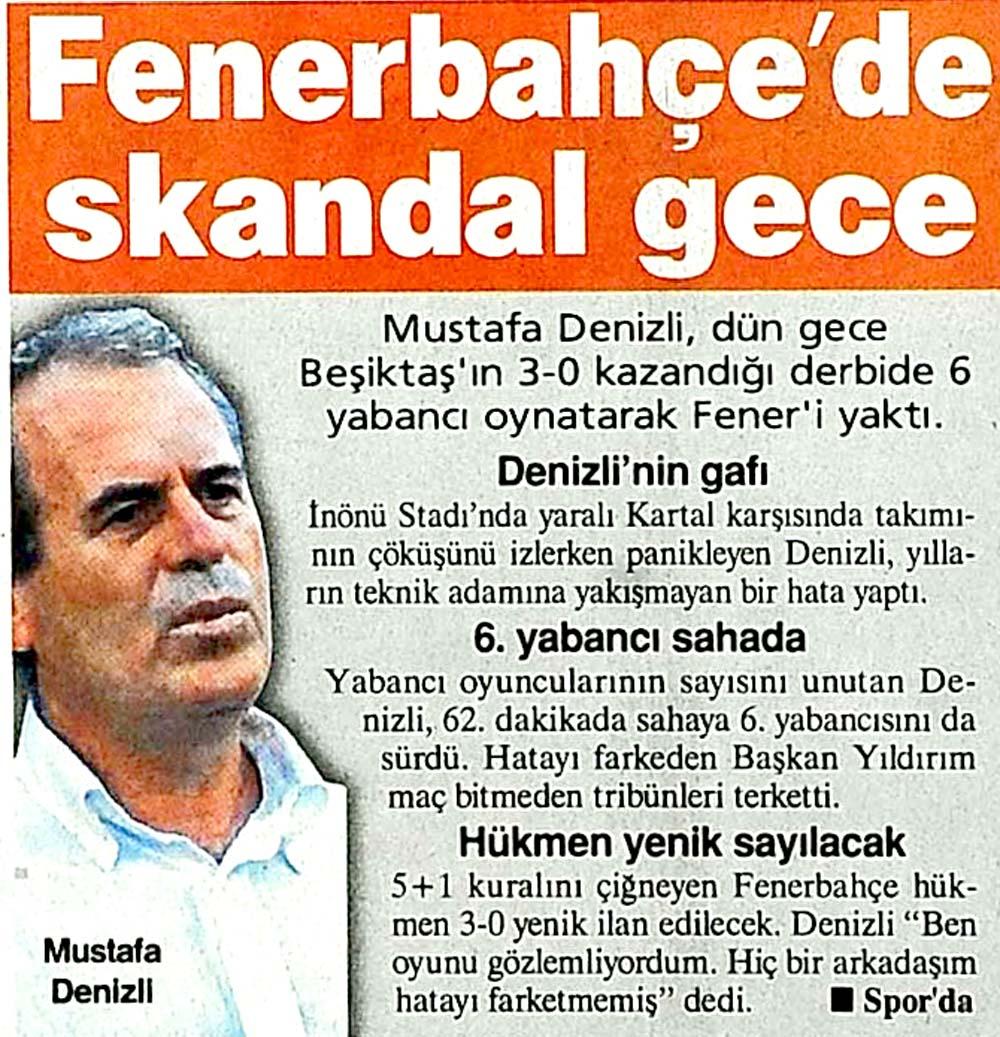 Fenerbahçe'de skandal gece