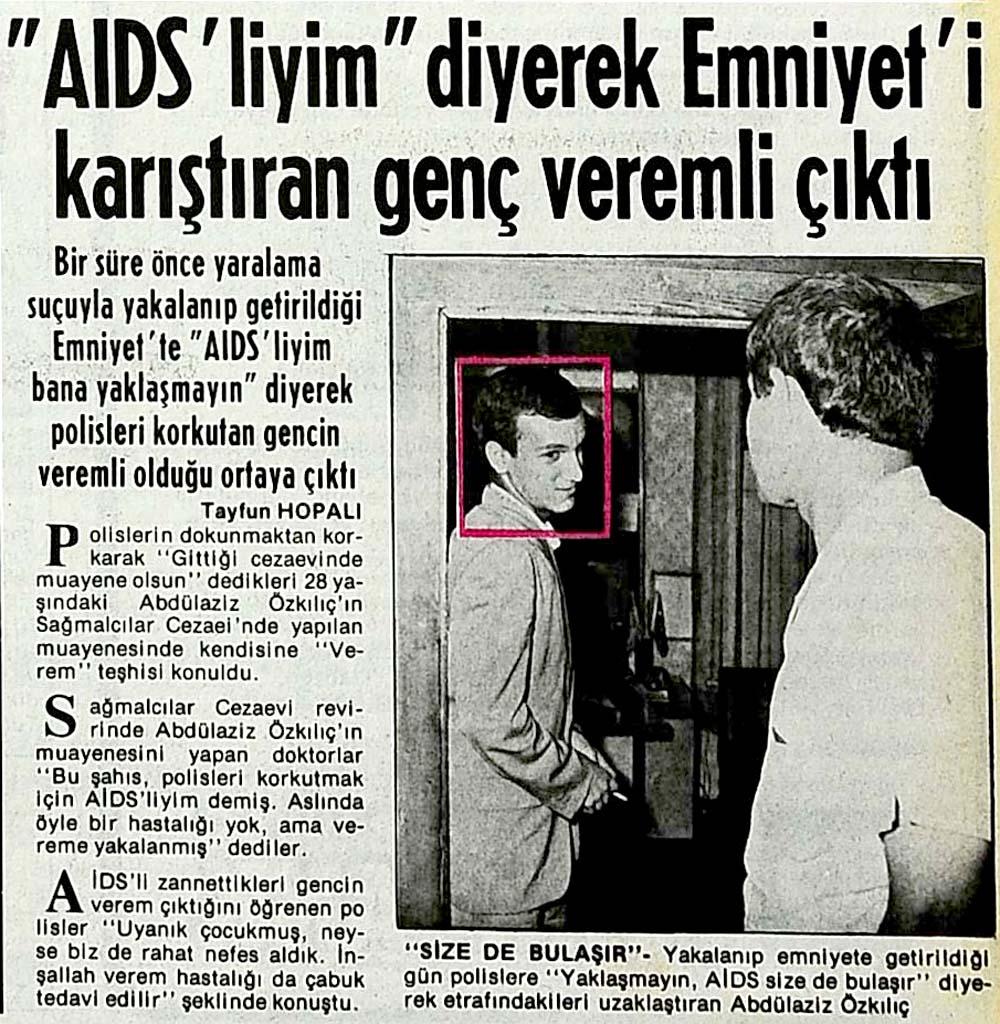 AIDS'liyim yaklaşmayın