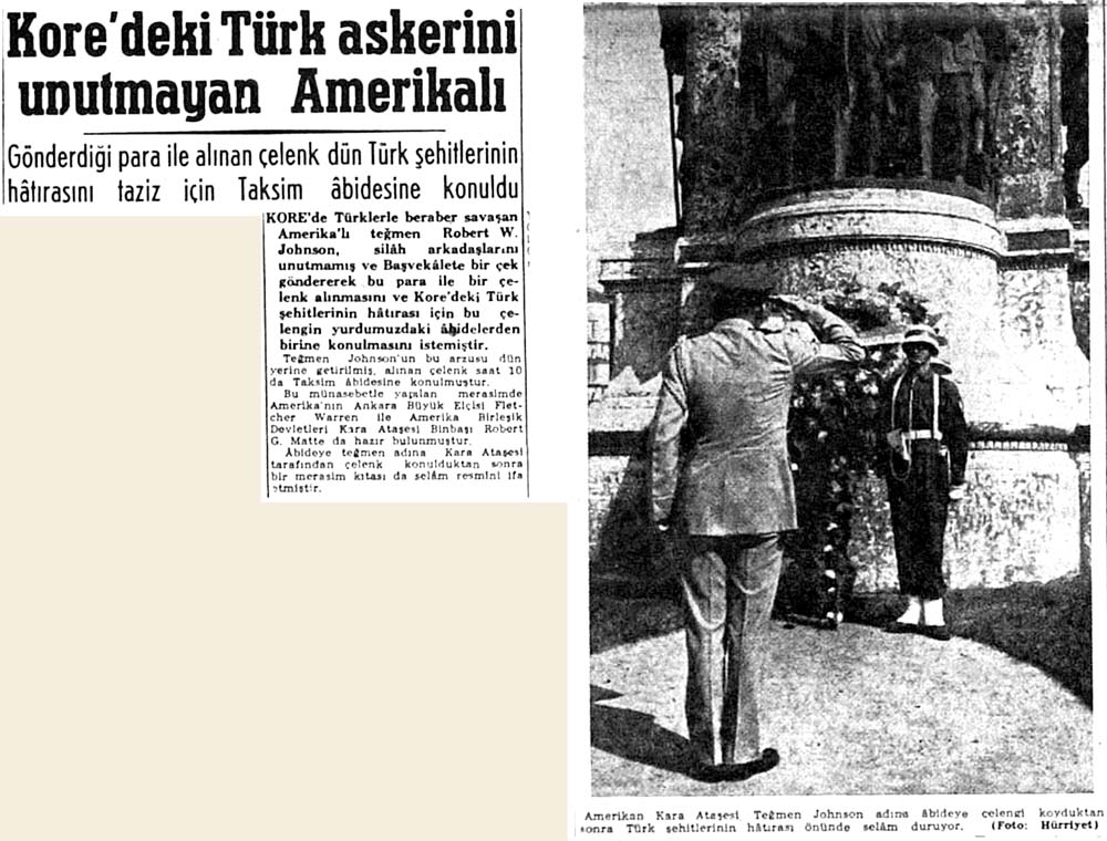 Kore'deki Türk askerini unutmayan Amerikalı