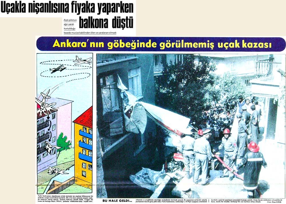 Uçakla nişanlısına fiyaka yaparken balkona düştü