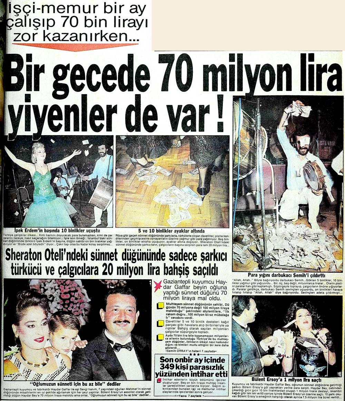 Bir gecede 70 milyon lira yiyenler de var!
