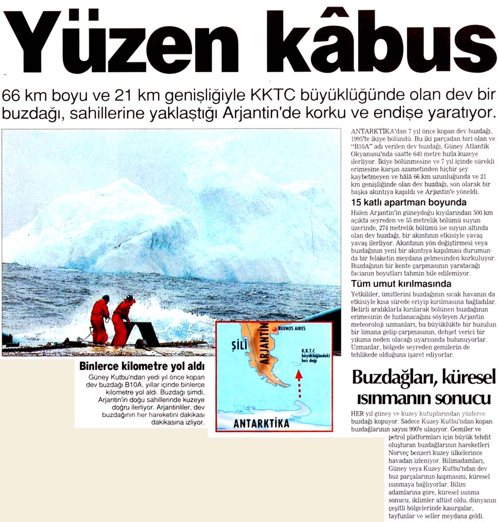 Buzdağları, küresel ısınmanın sonucu