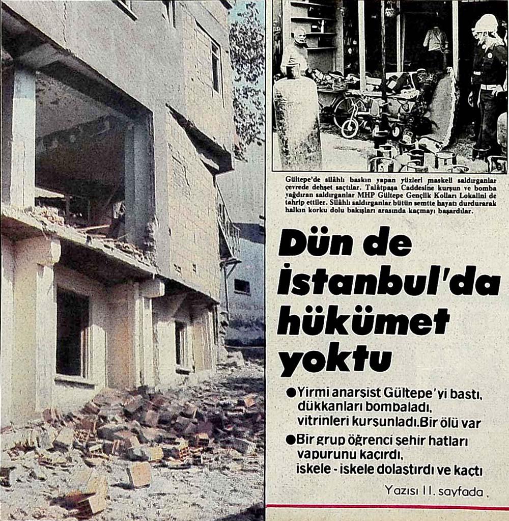 Dün de İstanbul'da hükümet yoktu