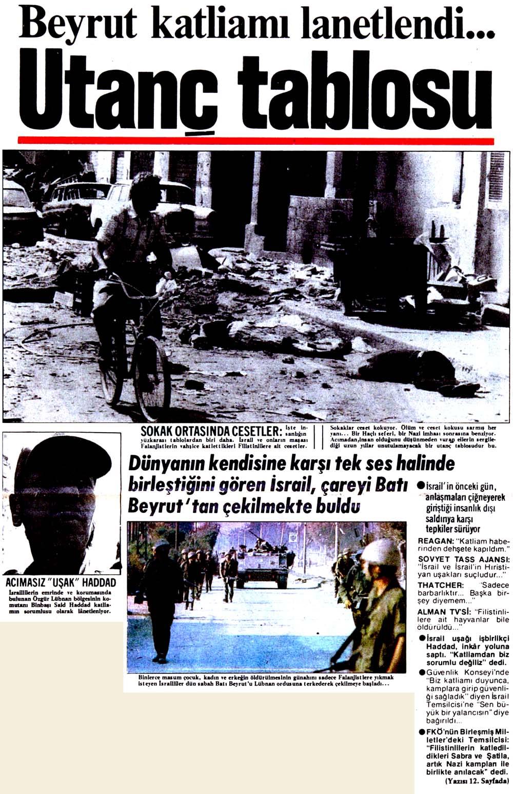 Beyrut katliamı lanetlendi...
