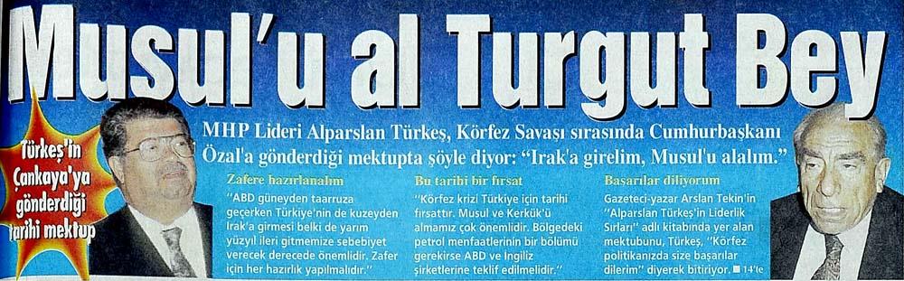 Türkeş'in Çankaya'ya gönderdiği tarihi mektup
