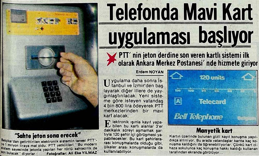 Telefonda Mavi Kart uygulaması başlıyor