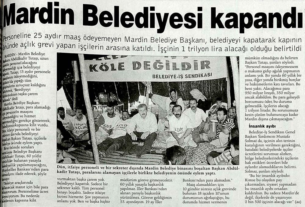 Mardin Belediyesi kapandı