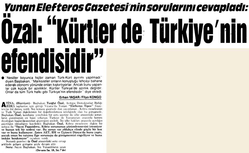 """""""Kürtler de Türkiye'nin efendisidir"""""""