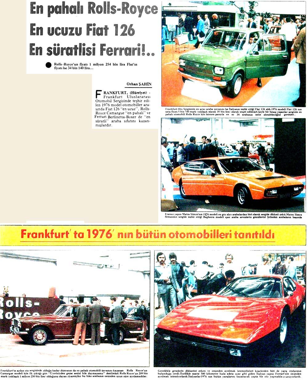 En pahalı Rolls-Royce, En ucuzu Fiat 126