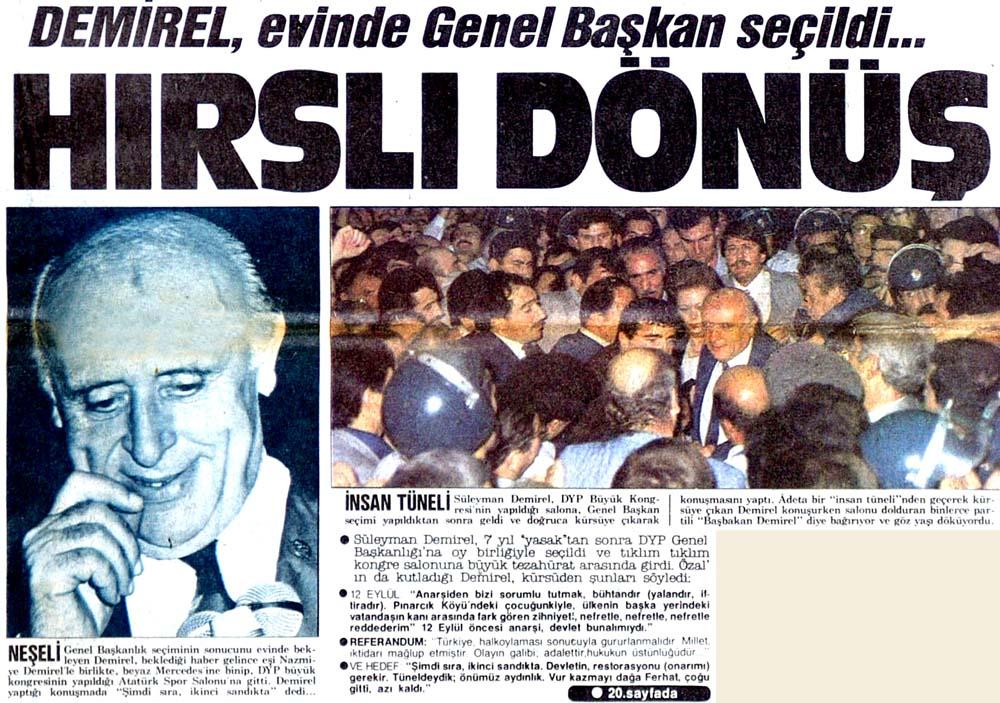 Demirel, evinde Genel Başkan seçildi...