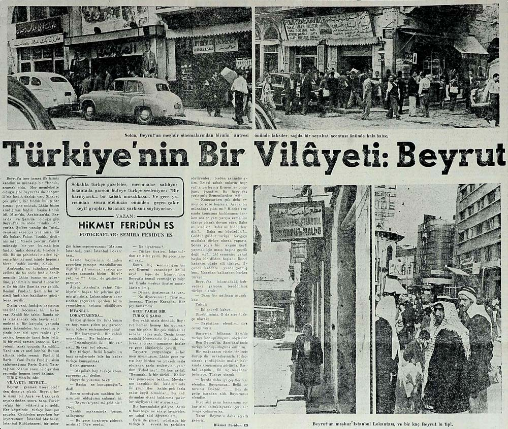 Türkiye'nin bir vilayeti: Beyrut