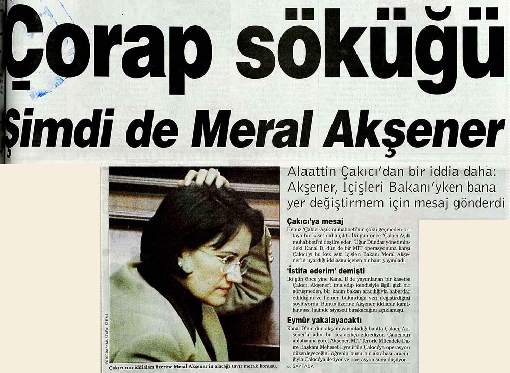 Çorap söküğü Şimdi de Meral Akşener