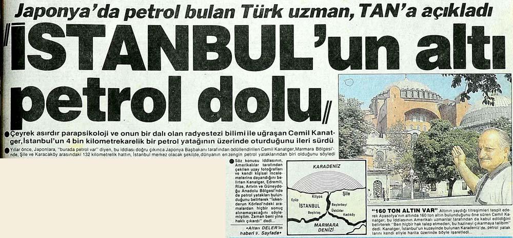 İstanbul'un altı petrol dolu