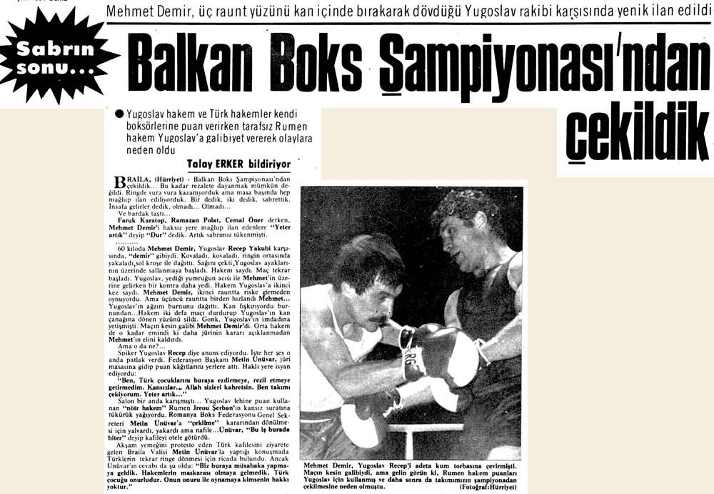 Balkan Boks Şampiyonası'ndan çekildik
