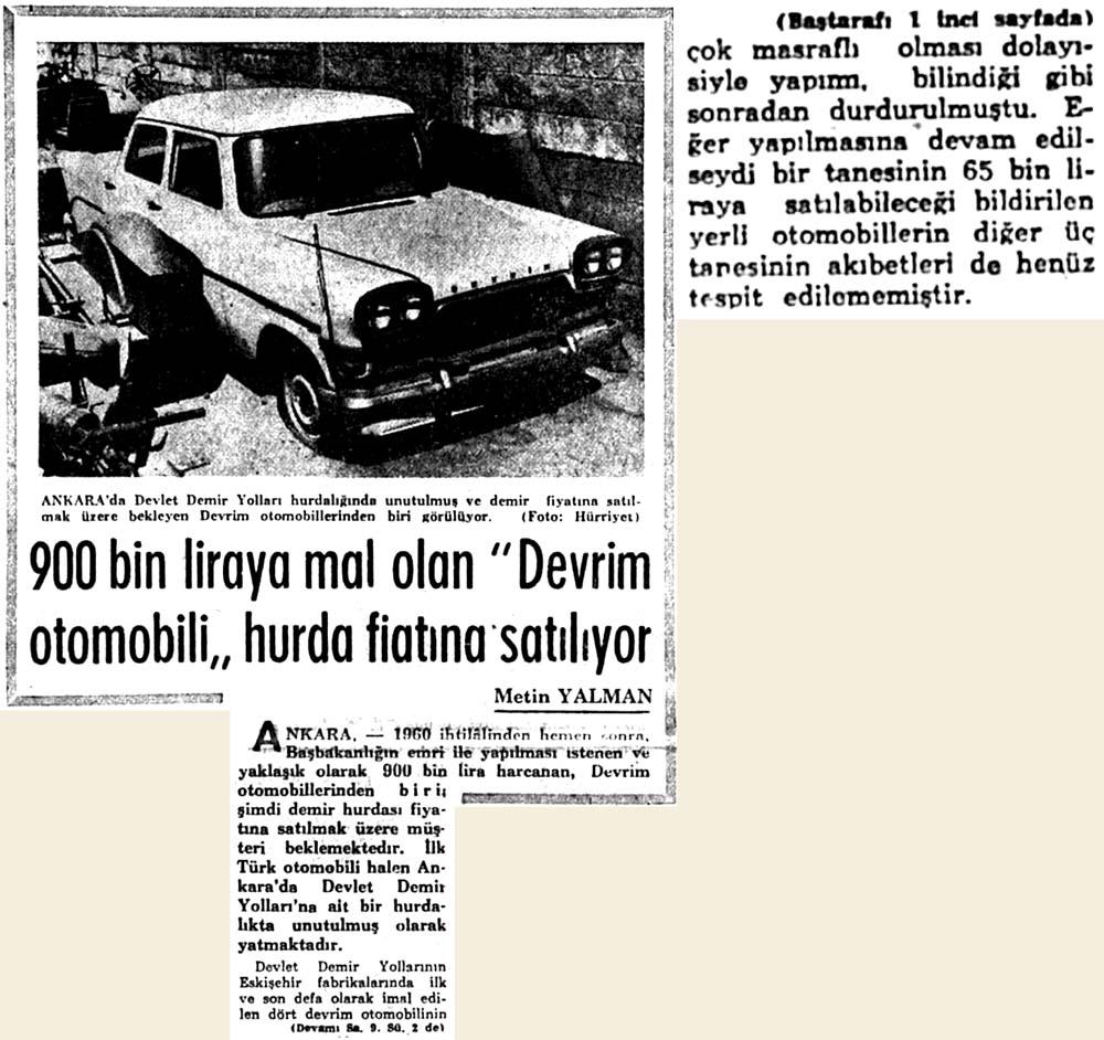 """""""Devrim otomobili"""" hurda fiatına satılıyor"""