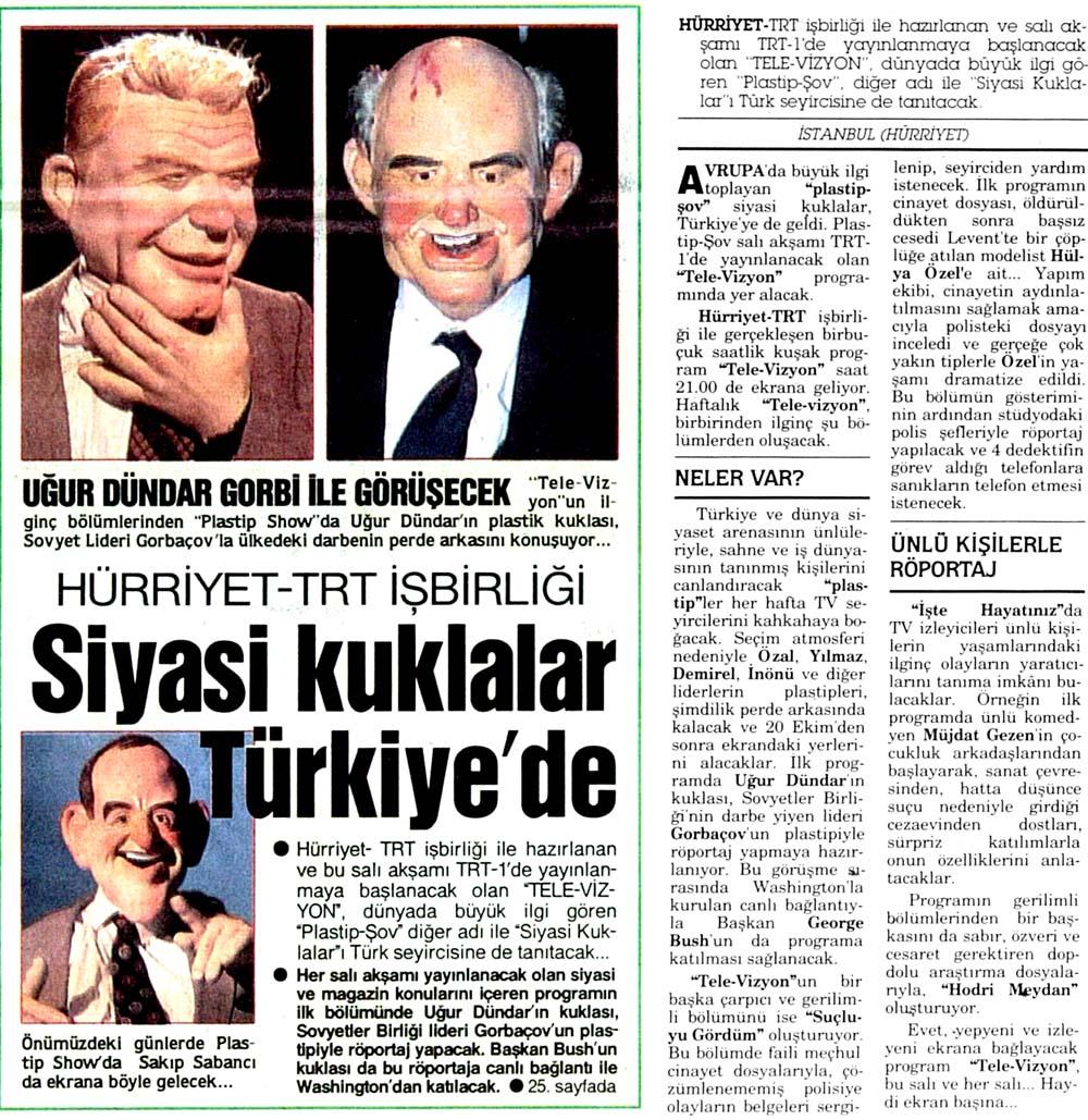 Siyasi kuklalar Türkiye'de