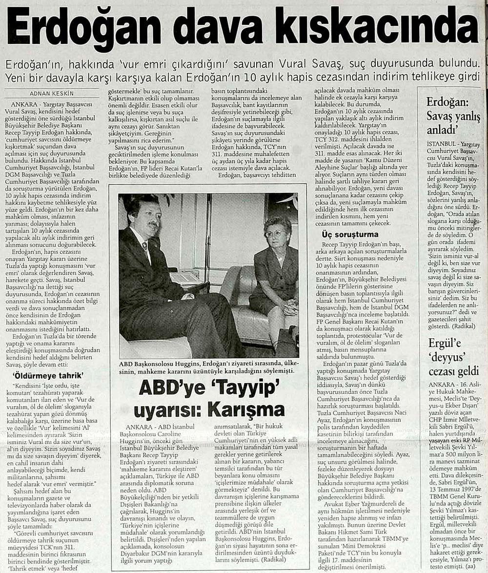 Erdoğan dava kıskacında