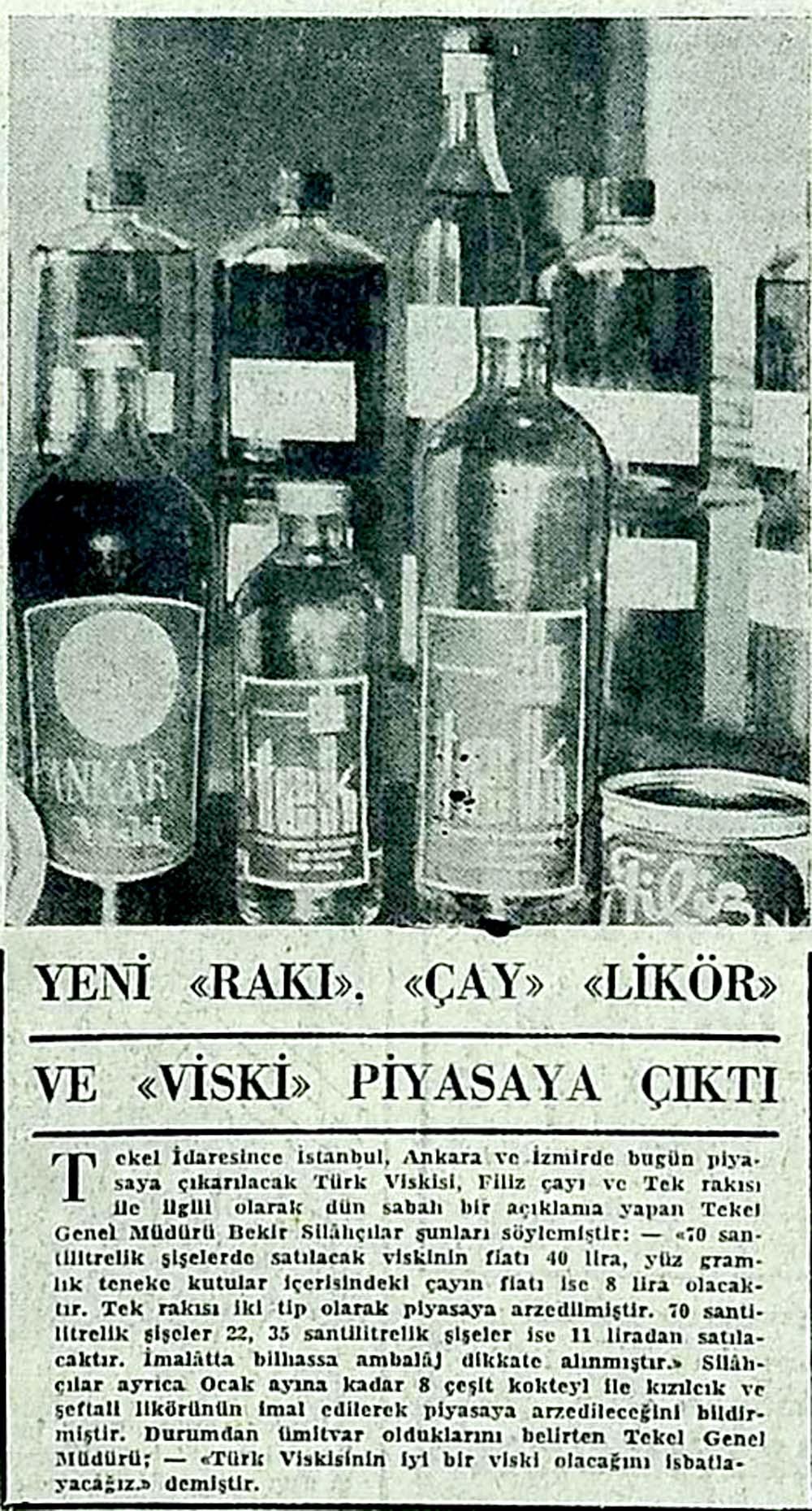 """Yeni """"Rakı"""" """"Çay"""" """"Likör"""" ve """"Viski"""" piyasaya çıktı"""