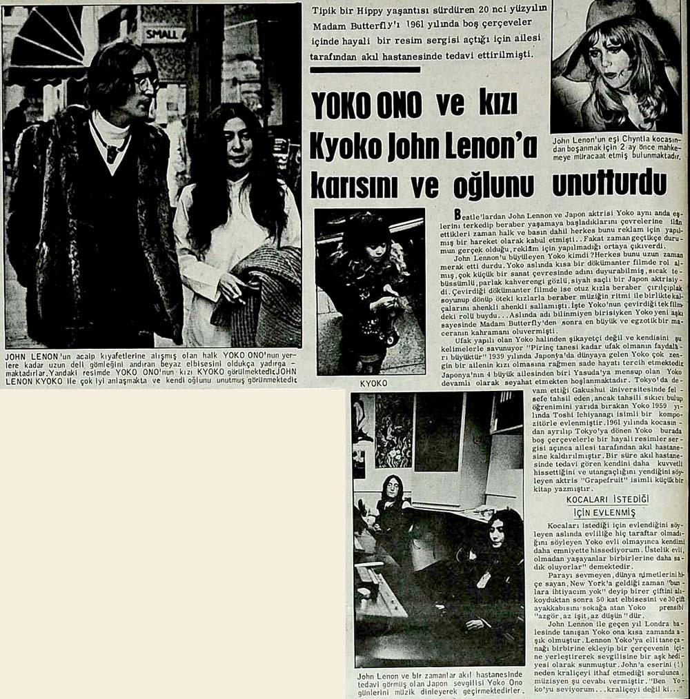 Yoko Ono ve kızı Kyoko John Lennon'a karısını ve oğlunu unutturdu