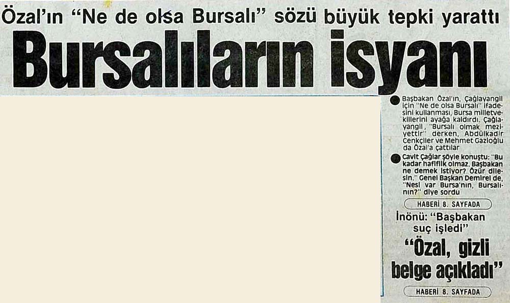 Bursalıların isyanı