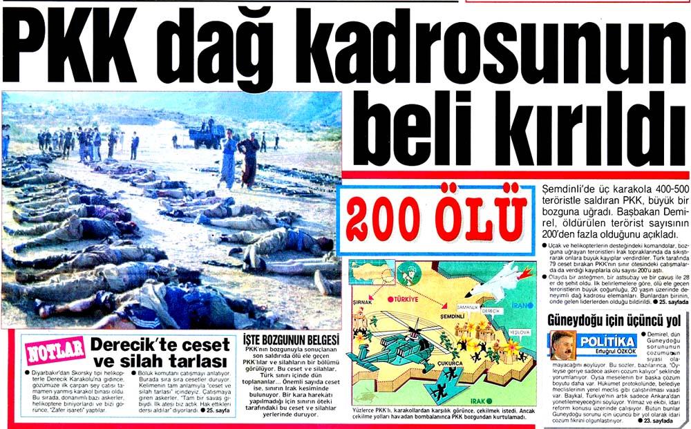 PKK dağ kadrosunun beli kırıldı