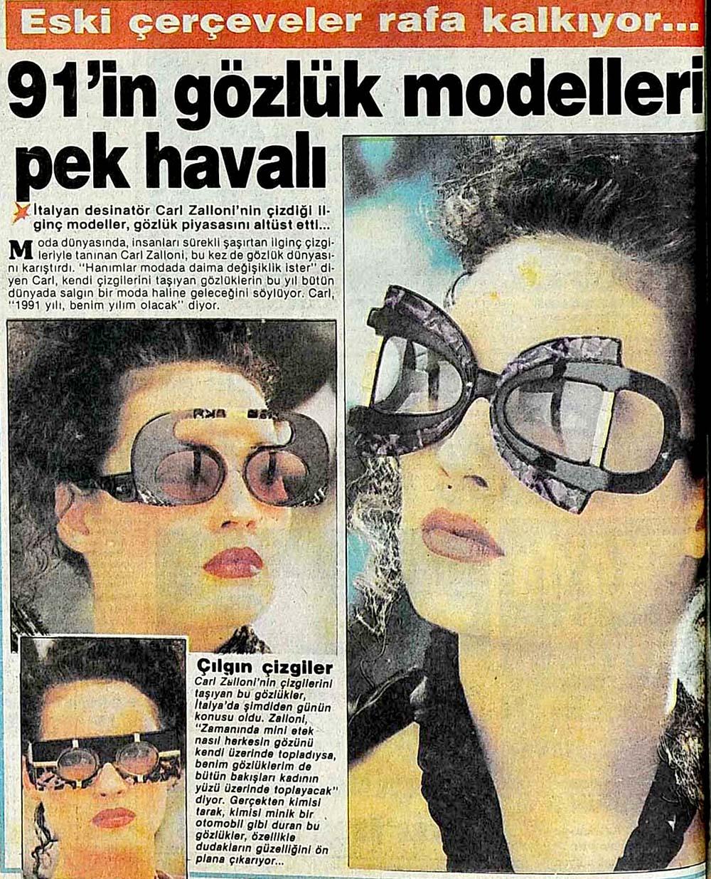 91'in gözlük modelleri