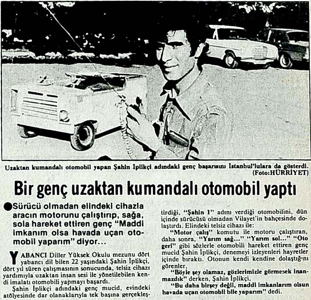 Bir genç uzaktan kumandalı otomobil yaptı