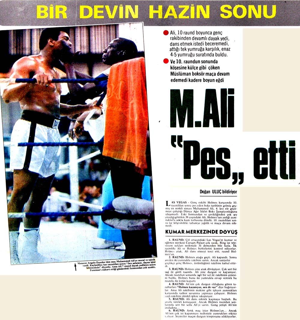 """M.Ali """"Pes"""" etti"""