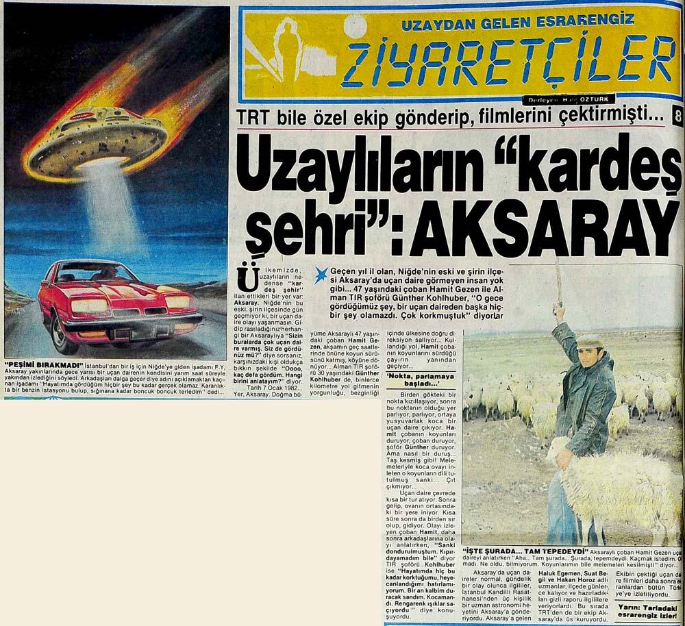 Uzaylıların şehri: Aksaray