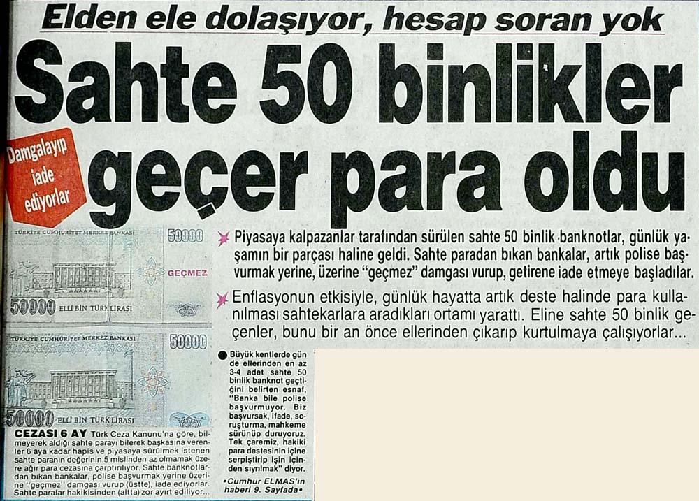 Sahte 50 binlikler geçer para oldu