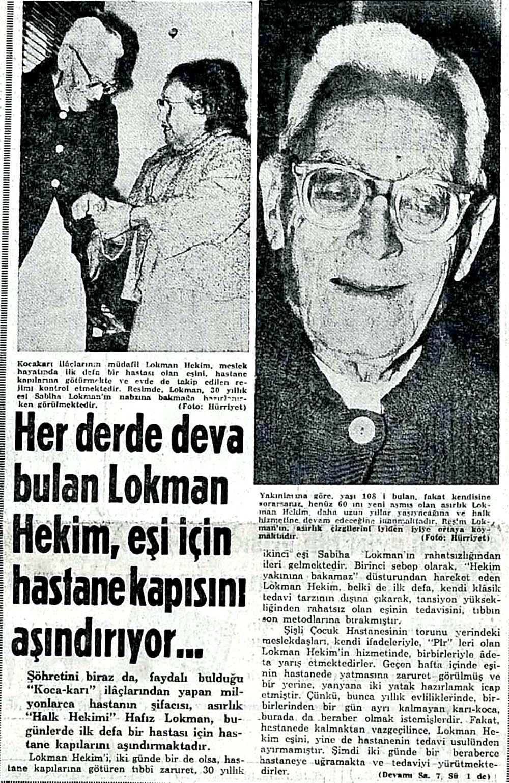 Her derde deva bulan Lokman Hekim, eşi için hastane kapısını aşındırıyor...
