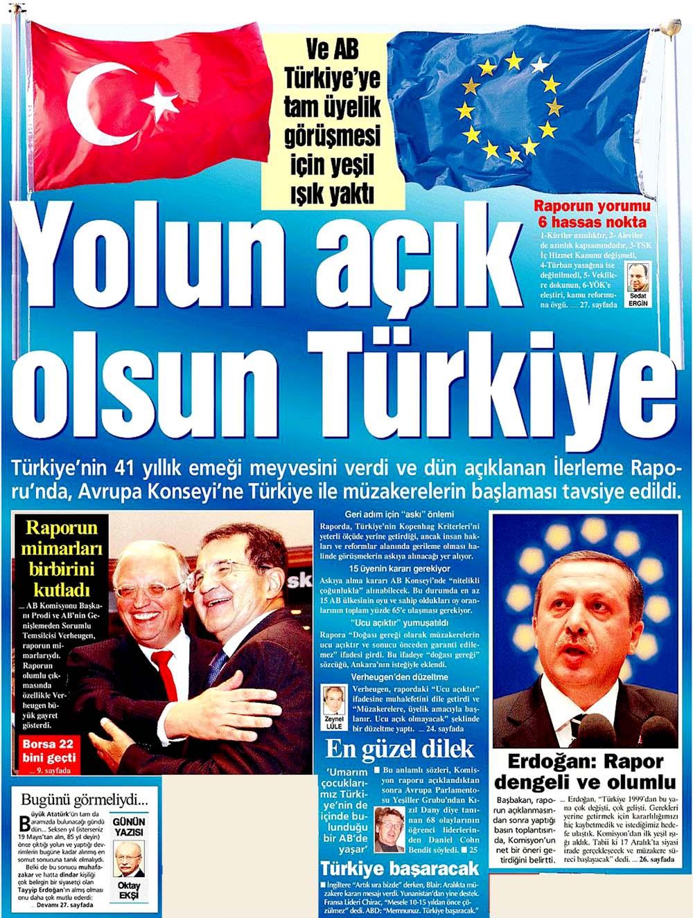 Yolun açık olsun Türkiye