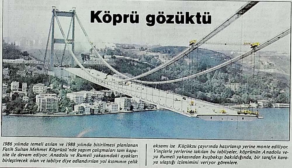 Köprü gözüktü
