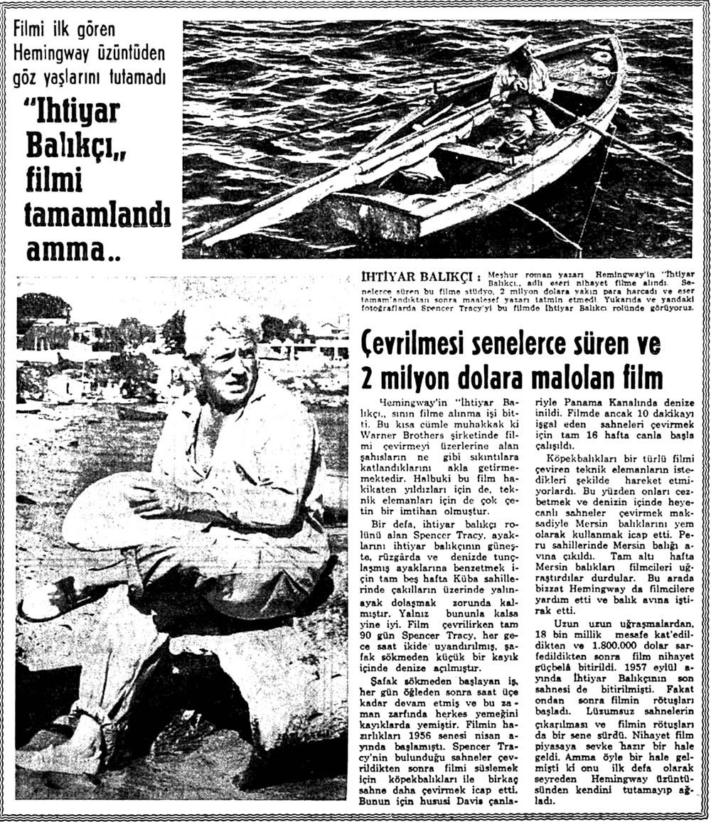 """""""İhtiyar Balıkçı"""" filmi tamamlandı amma.."""