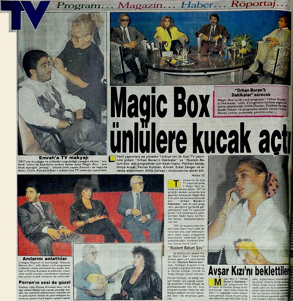 Magic Box ünlülere kucak açtı