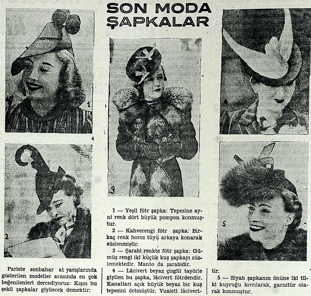 Son moda şapkalar