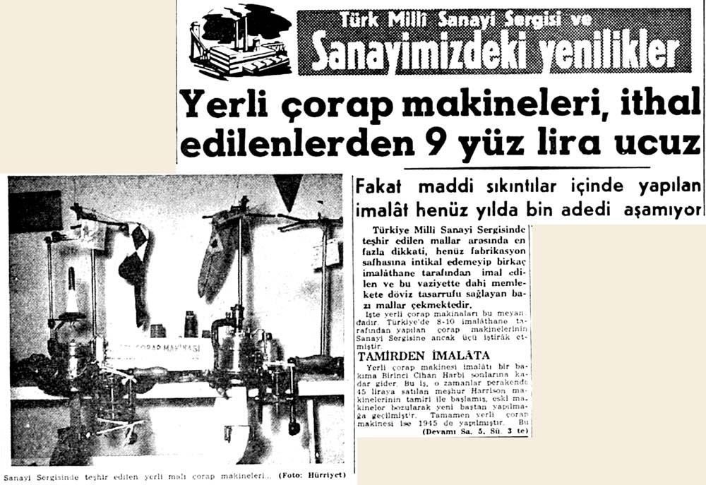 Türk Milli Sanayi Sergisi ve Sanayimizdeki yenilikler
