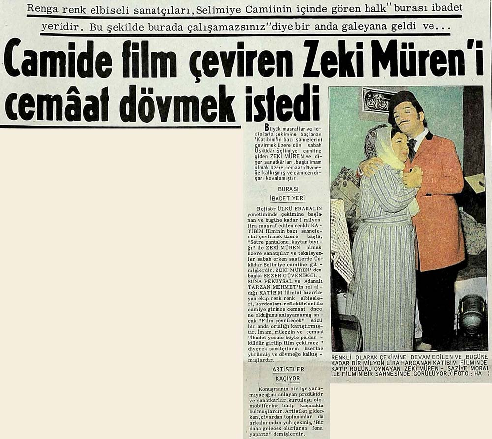 Camide film çeviren Zeki Müren'i cemaat dövmek istedi