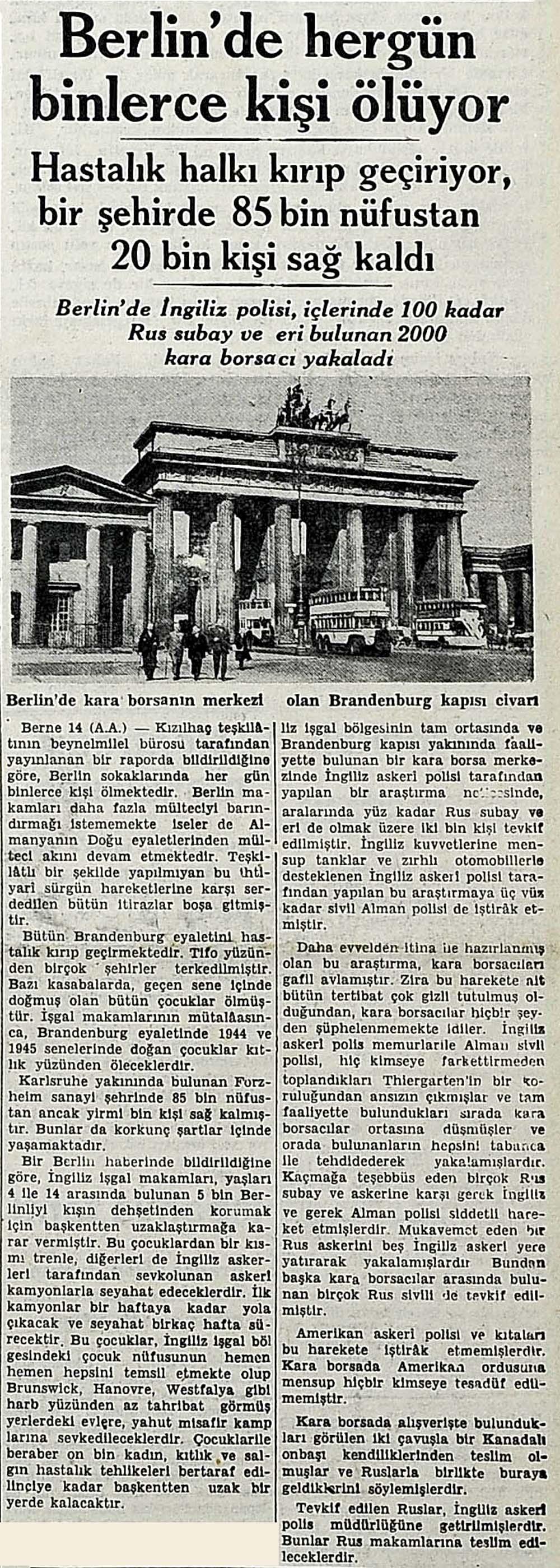 Berlin'de hergün binlerce kişi ölüyor
