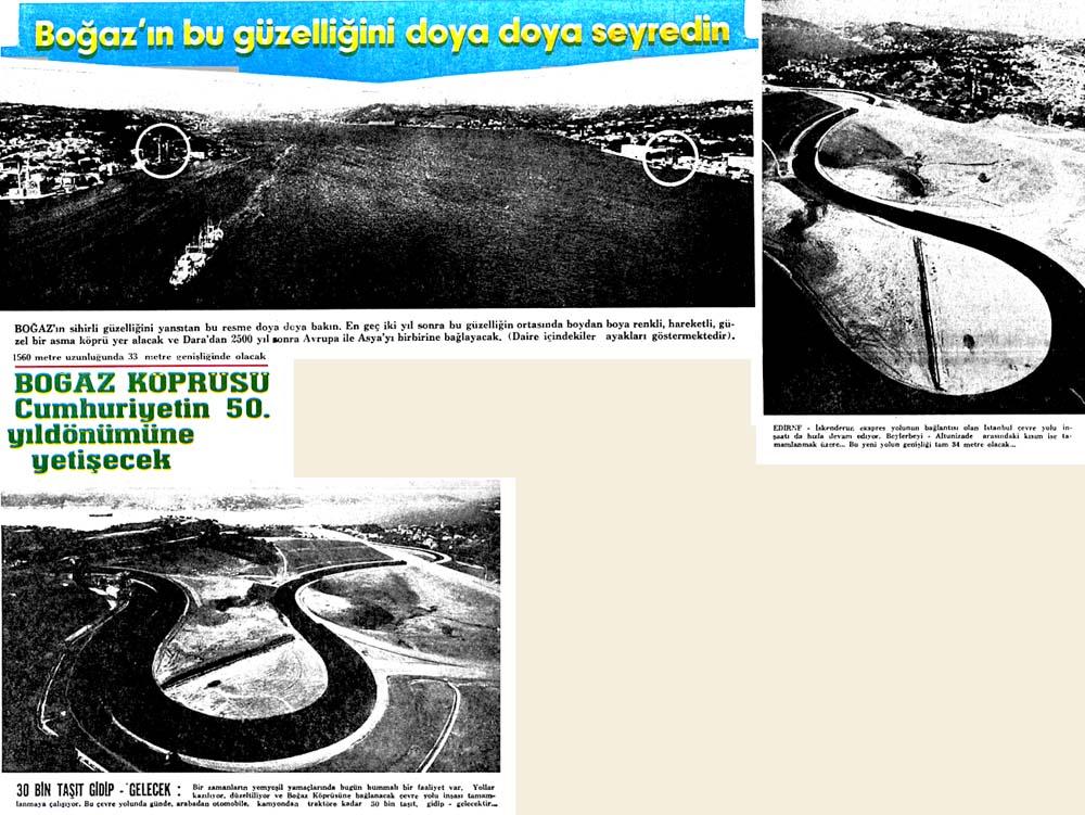 Boğaz Köprüsü Cumhuriyetin 50. yıldönümüne yetişecek