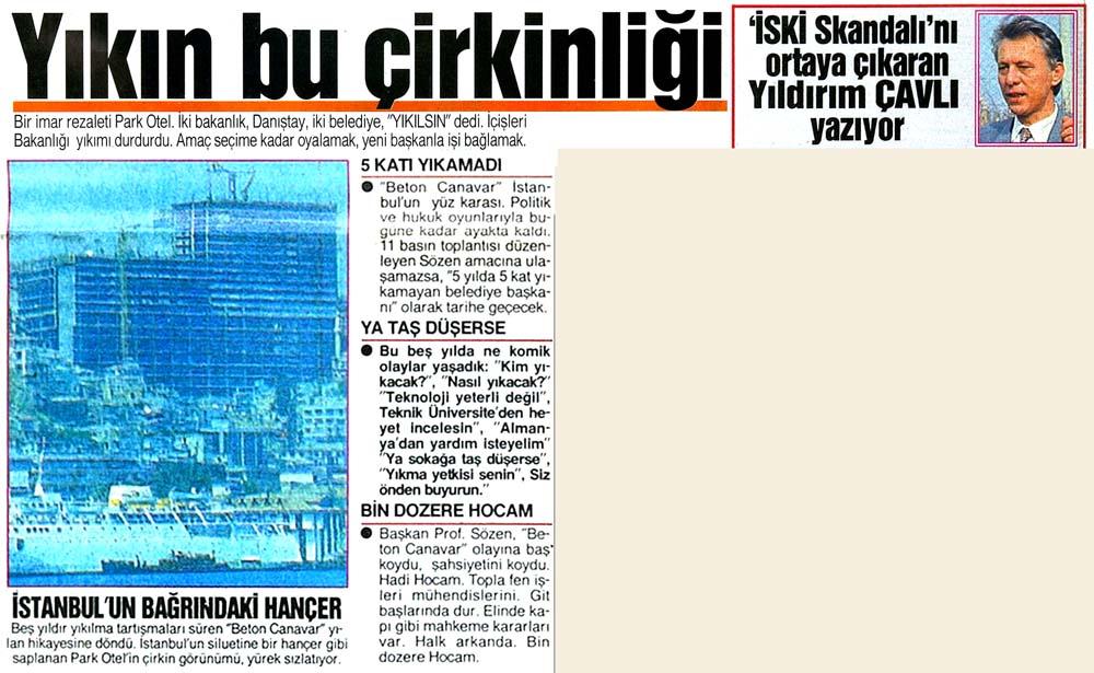 İstanbul'un bağrındaki hançer