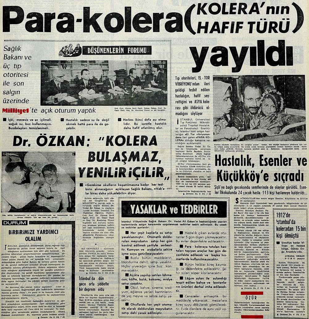 Para-kolera (Kolera'nın hafif türü) yayıldı