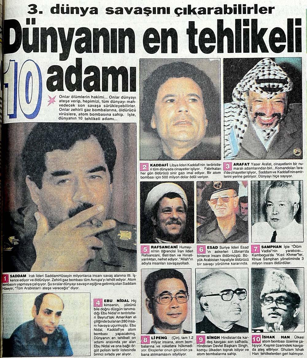Dünyanın en tehlikeli 10 adamı